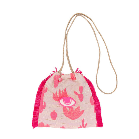 Koku Sandy Mini Bucket Bag - Big Cactus Love/Evil Eye