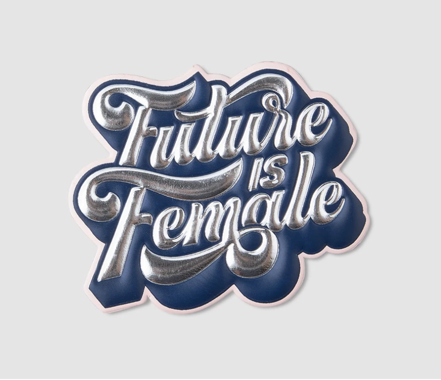 "Printworks "" Future is Female"" Sticker - Blue"