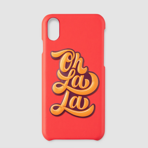 "Printworks "" Oh la la "" Sticker - Orange"
