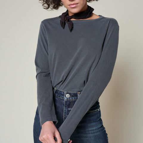 AMO Babe Long Sleeve Shirt - Faded Black