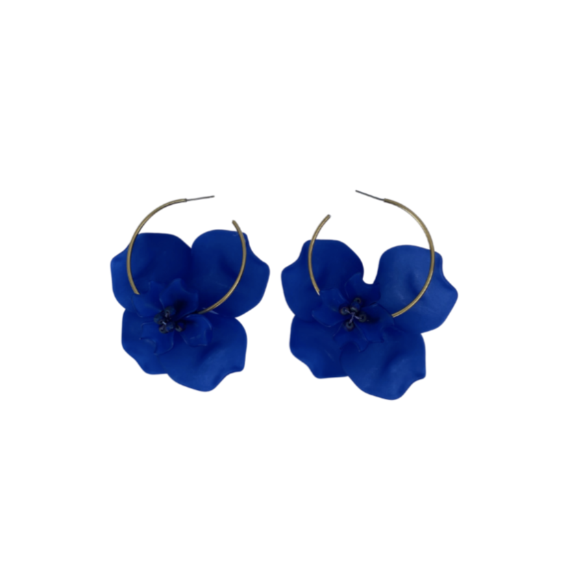 FL Private Collection - Blue Petal Earring