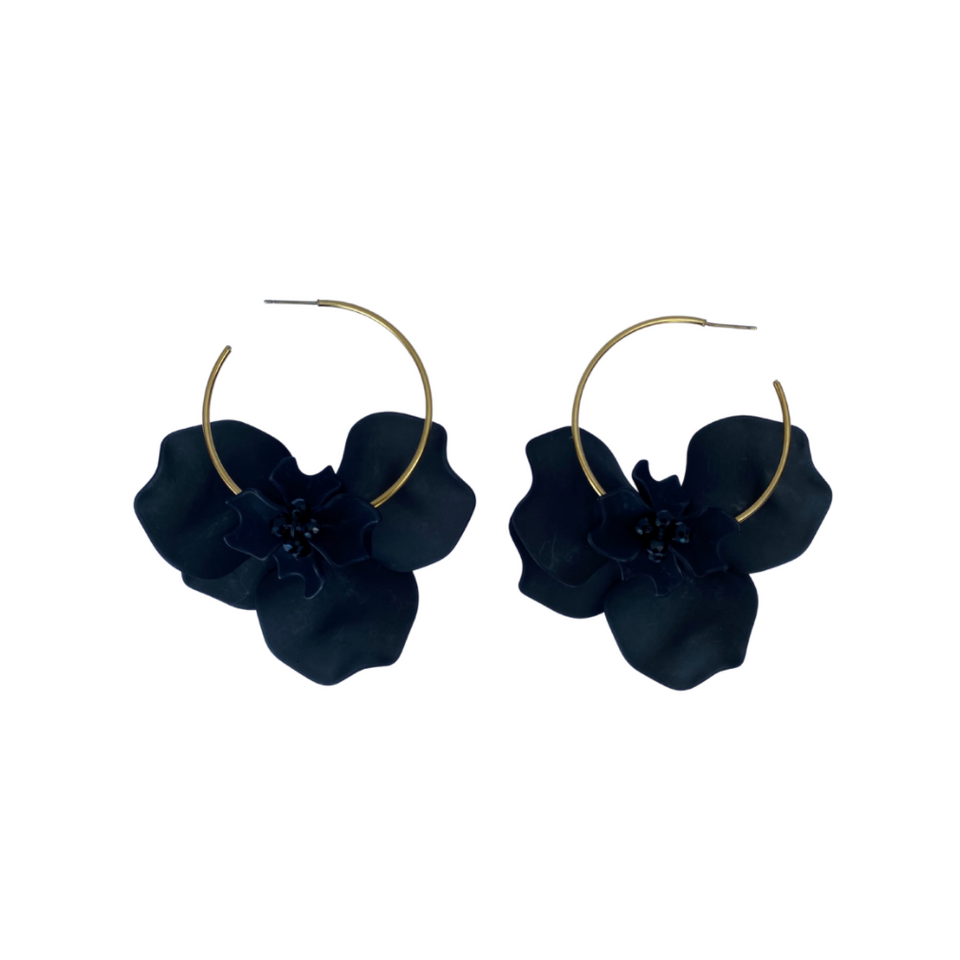 FL Private Collection - Black Petal Earring