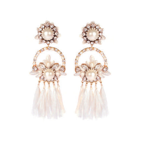 Shourouk Malena White Earrings