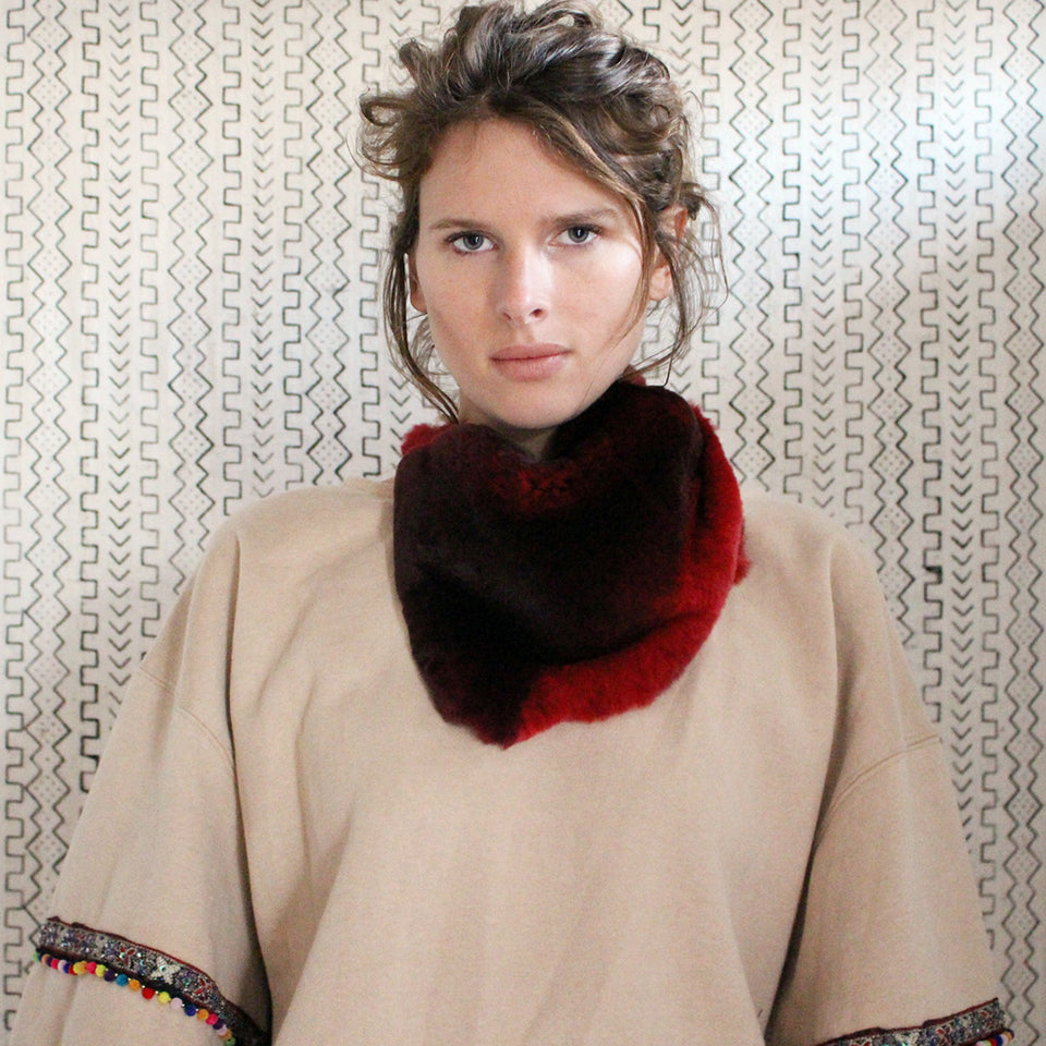 Swann Fur Collar - Red