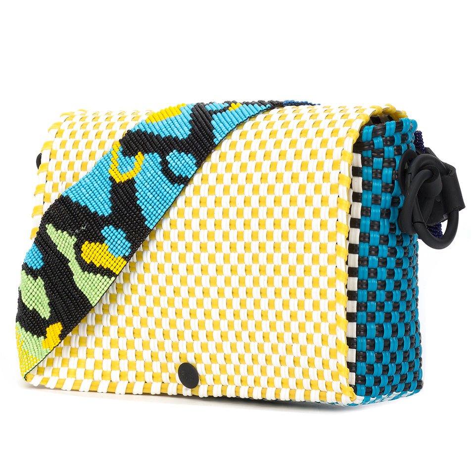 Truss Baguette Bag - Yellow/Turquoise