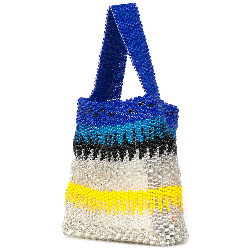 Truss Beaded Party Bag - Blue