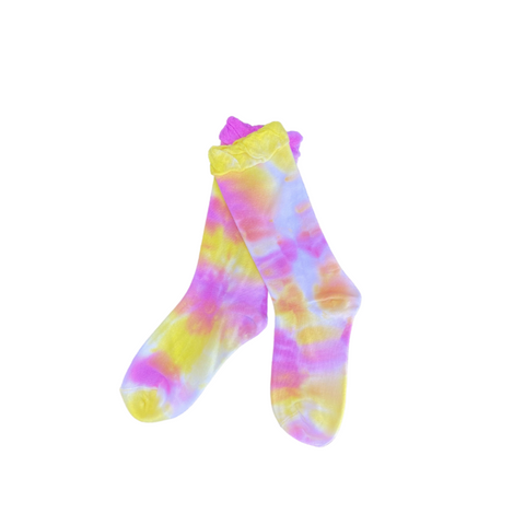 Tie Dye  Socks - Pink / Yellow
