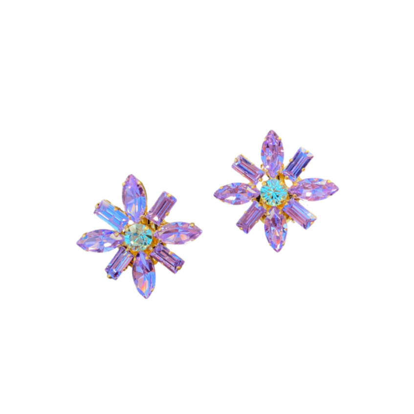 Katerina Psoma Flower Clip Ons - Purple