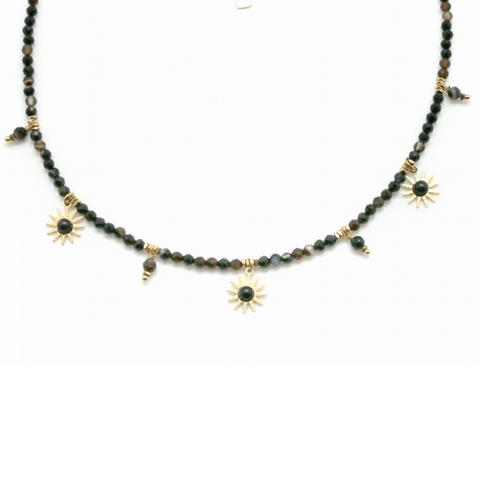 Sun Burst Necklace - Black