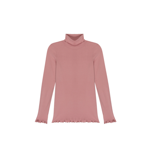 AMO Merrow Turtleneck Top - Pink