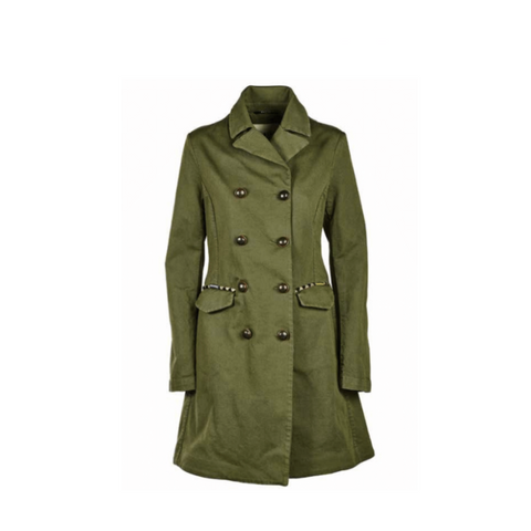 Bazar Deluxe Green Long Army Jacket