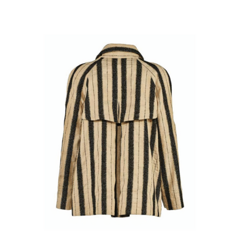 Bazar Deluxe Striped Linen Coat