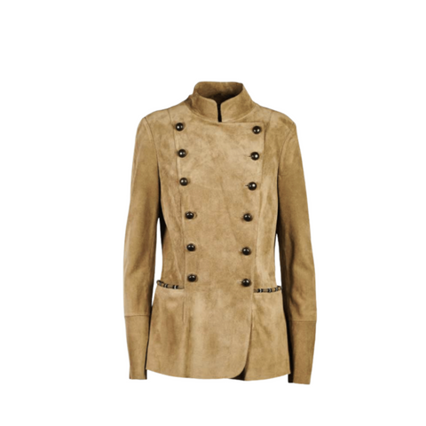 Bazar Deluxe Suede Fitted Jacket