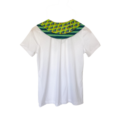 Joey Wölffer Collared T - Shirt - Key Lime Blockprint