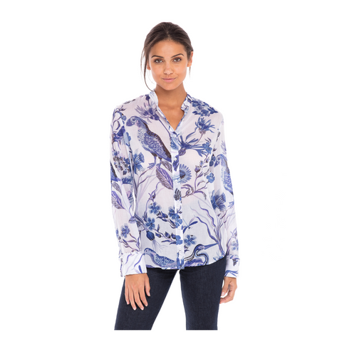 Banjanan Alfreda Shirt - Blue / White