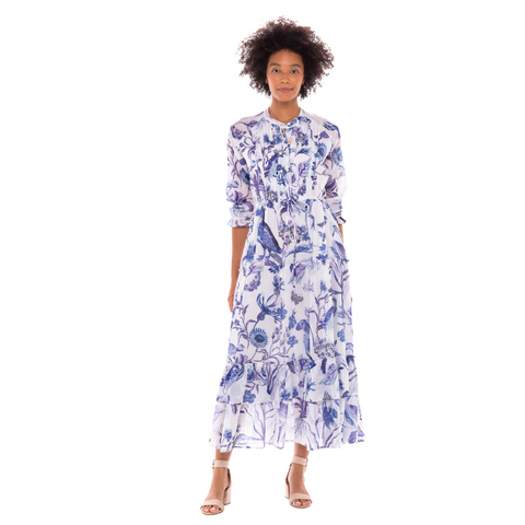 Banjanan Brenda Dress - Blue / White