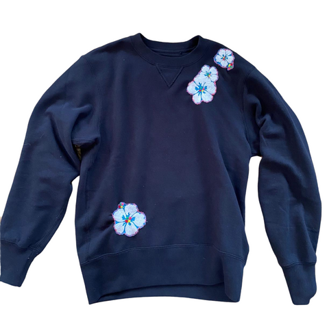Wolffer Girls Sweatshirt - Hawaiian Floral