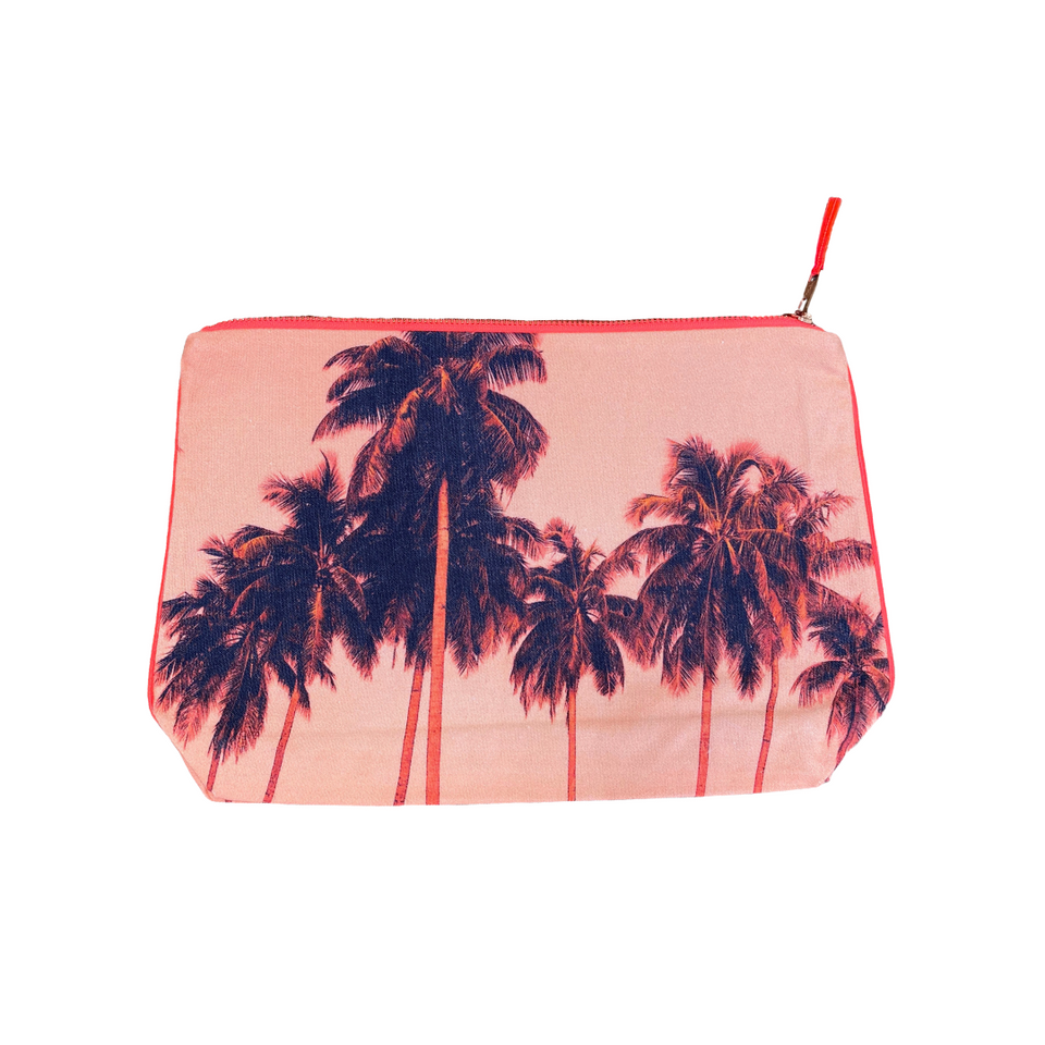 Dezso Flamingo Palm Pouch