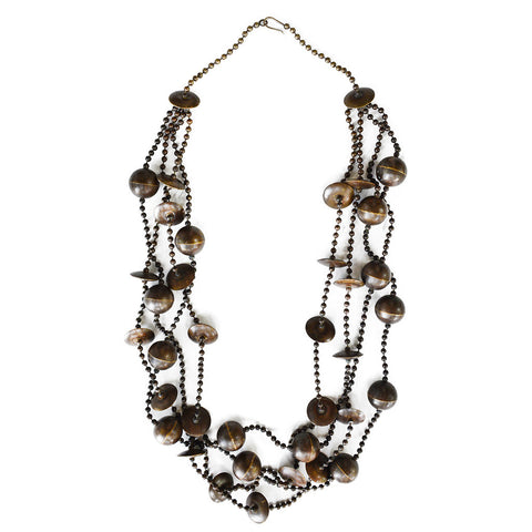 Brass Ball Chain Bead Necklace