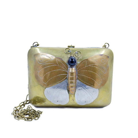 Vintage Metal Butterfly Clutch