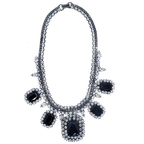 Vintage Black Crystal Collar
