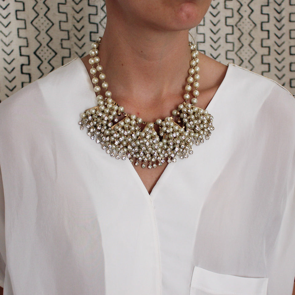 Vintage Pearl Shaker Necklace