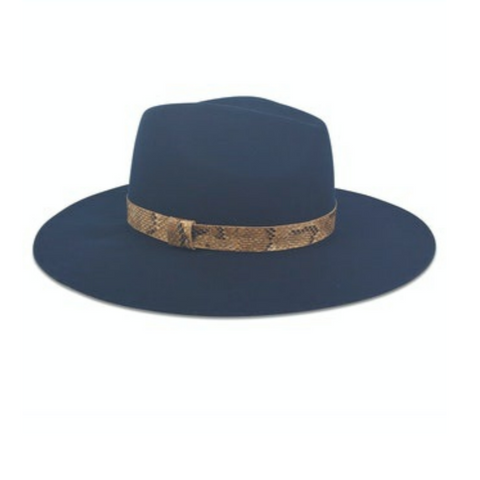 Hat Attack Ava Hat - Navy with Python Band