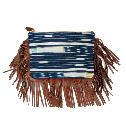 Joey Wölffer Fringe Pouch - Striped Mali