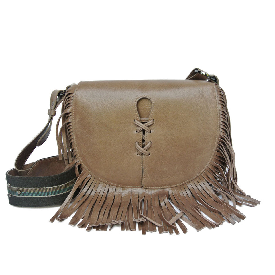Joey Wölffer Classic Fringe Bag - Taupe