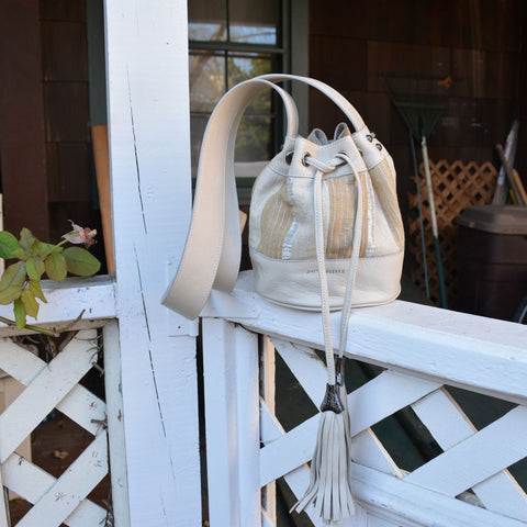 Joey Wölffer Mini Bucket Bag - White