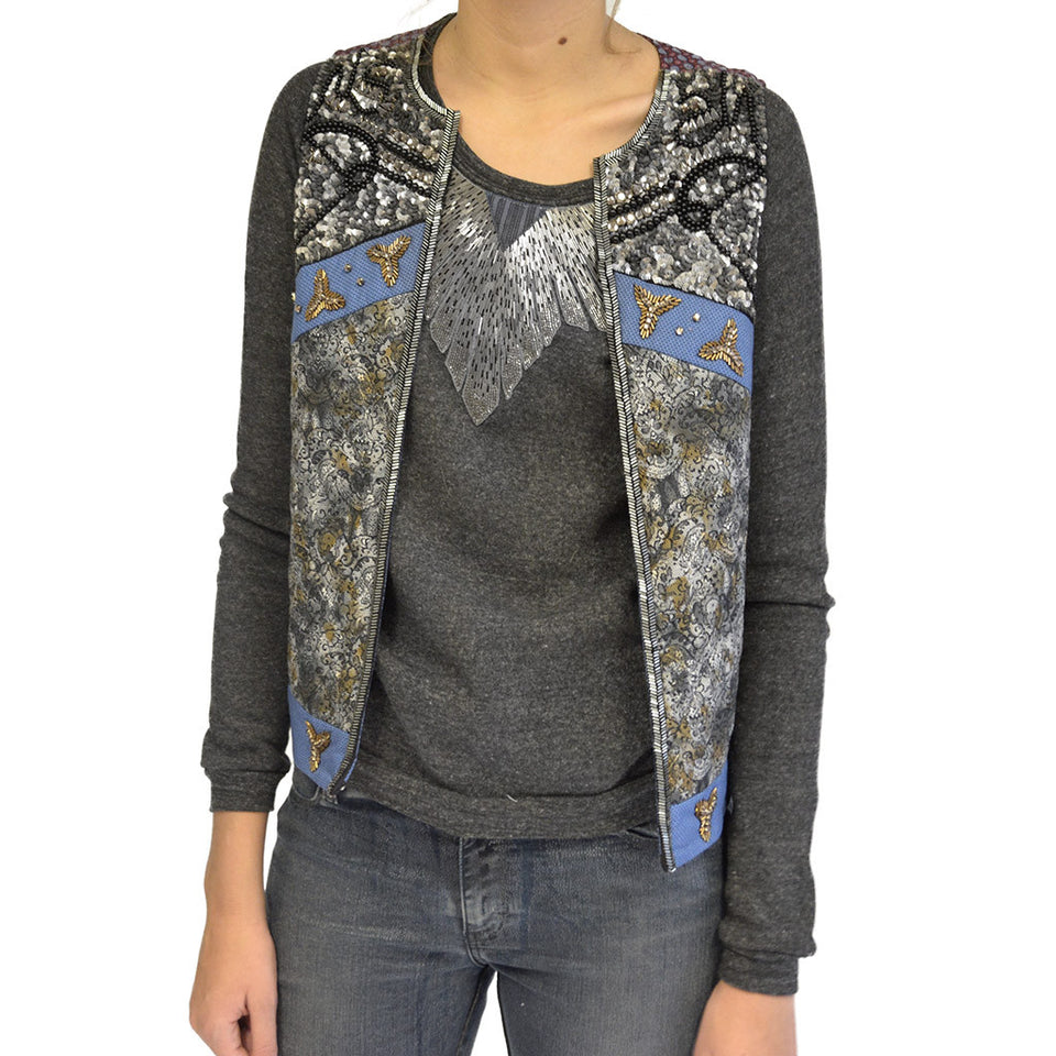 Joey Wölffer Patchwork Embellished Vest