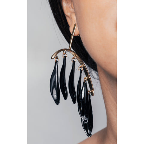 Castle Cliff Raven Earring - Black