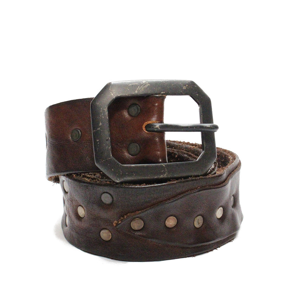 Riccardo Forconi Brown Square Belt 3225