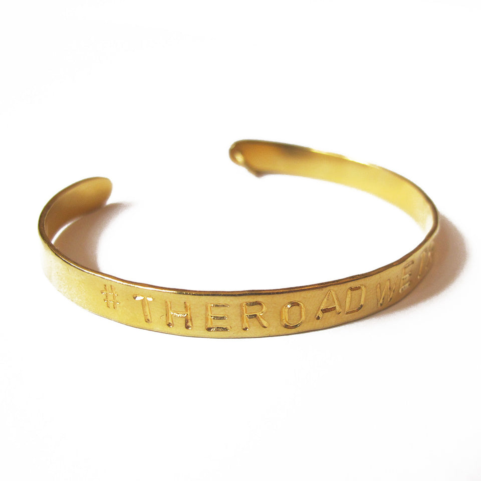 #TheRoadWeTravelBracelet - Gold Plated