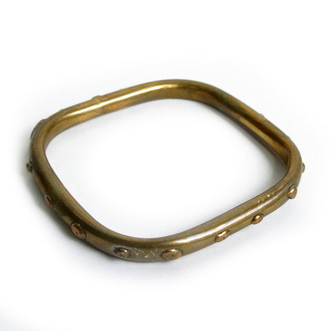 Vintage Brass Square Bangle