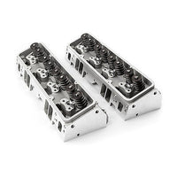 PROCOMP SBC 220/64CC COMPLETE ALUMINUM HEADS WITH STUDS & GUIDE PLATES
