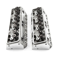 PROCOMP SBC 190/64CC COMPLETE ALUMINUM HEADS WITH STUDS & GUIDE PLATES