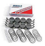 MAHLE FORGED COATED SKIRT SMALL BLOCK CHEVY FLAT TOP PISTON & RING SETS