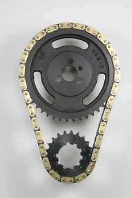 PROGEAR SBC HEAT TREATED BLACK OXIDE .25O TWIN ROLLER 9 KEY TIMING SET 1966-1981