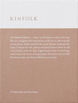 KINFOLK NOTECARD COLLECTION - WEEKEND EDITION