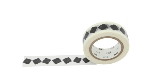 MASKING TAPE BLACK AND WHITE (LOSANGE)