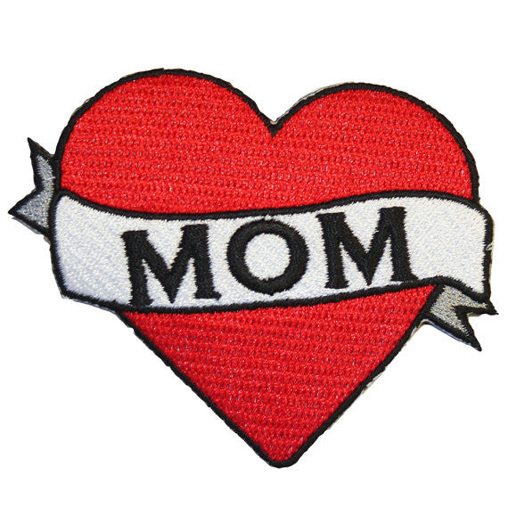 PATCH BRODERIE COEUR MAMAN / MOM
