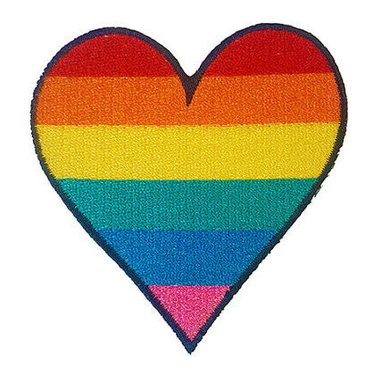 PATCH BRODERIE COEUR GAY PRIDE