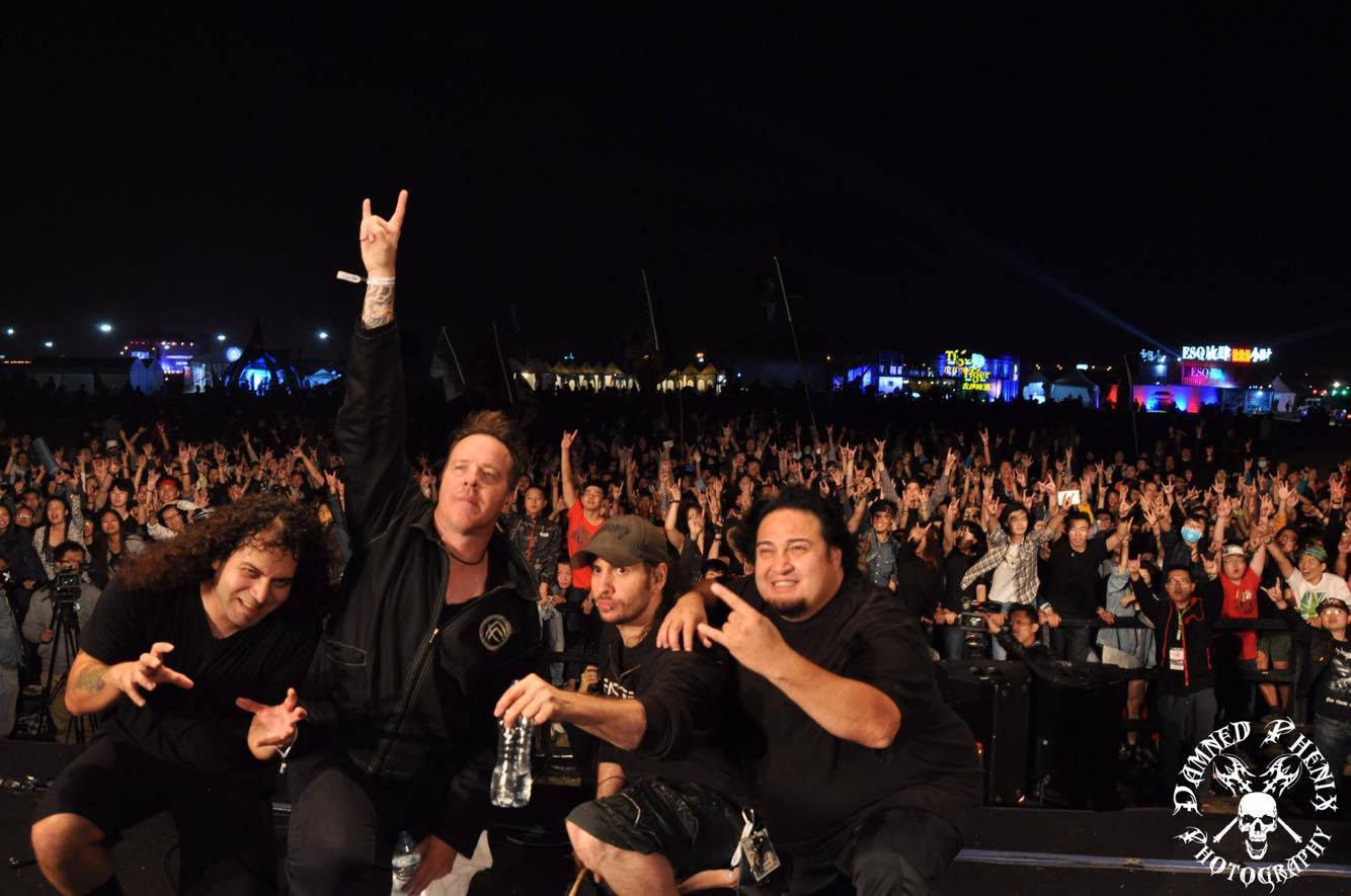 Jessie Sanchez with Fear Factory