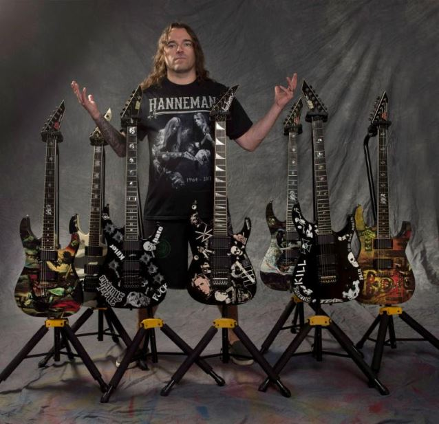 Jeremy Wagner bought Jeff Hanneman's guitars