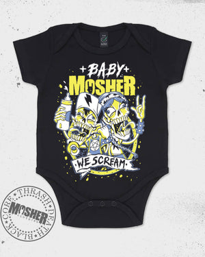 "Baby Mosher - ""We Scream"" Babygrow for little screamers!"