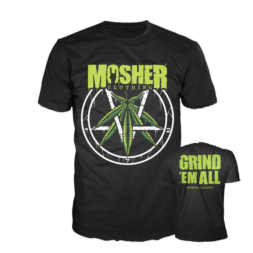 Mosher Weedagram shirt by Mosher Clothing, for the slowest metalheads worldwide