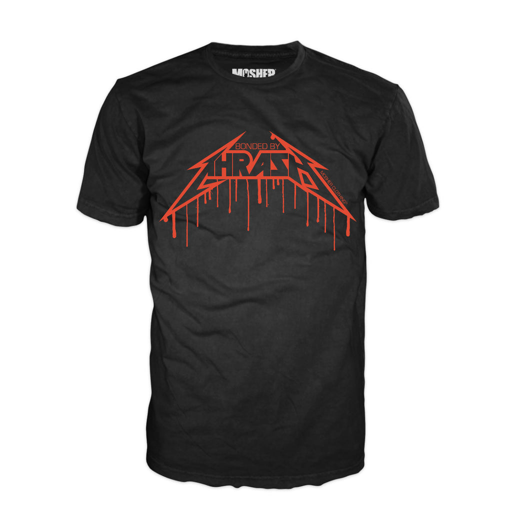 """Bonded By Thrash"" metal t-shirt by Mosher Clothing"