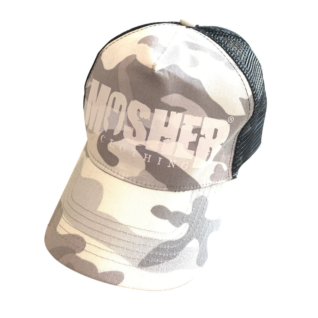 Snow Camo Trucker Hat