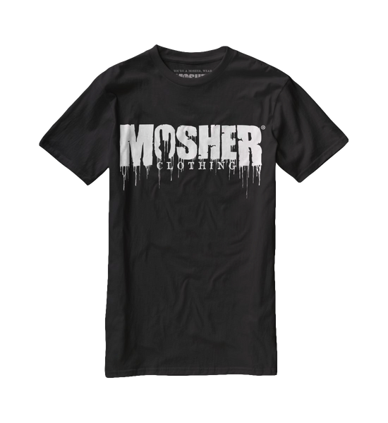 dripping logo t-shirt by Mosher Clothing